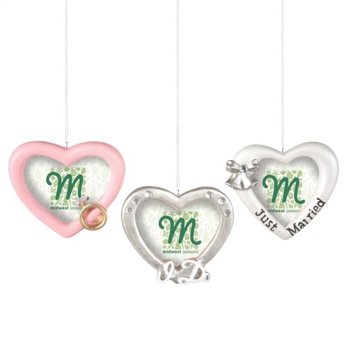 Wedding Frame Ornament (3 asstd).