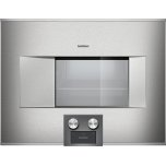 "Gaggenau400 series BS475611 Stainless steel-backed full glass door Width 24"" (60 cm) Left-hinged Controls at the bottom"
