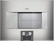 "400 series BS475611 Stainless steel-backed full glass door Width 24"" (60 cm) Left-hinged Controls at the bottom"