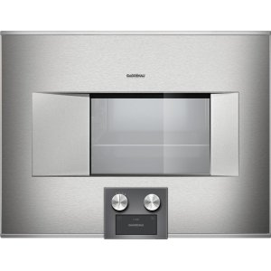 "Gaggenau400 Series Bs474611 Stainless Steel-Backed Full Glass Door Width 24"" (60 Cm) Right-Hinged Controls At The Bottom"