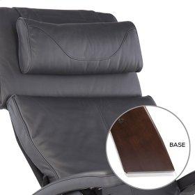 Perfect Chair PC-420 Classic Manual Plus - Gray Premium Leather - Dark Walnut