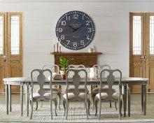 Grace Dining Table with Demi Lune Ends and Regina Chairs