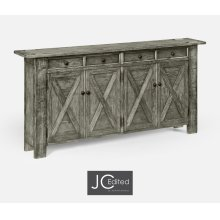 Antique Dark Grey Narrow Sideboard