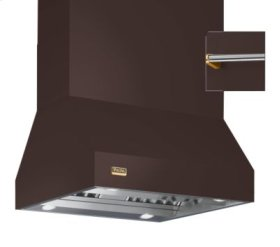 """36"""" Wide Island Hood, Brass Accessory Rail on front and back"""