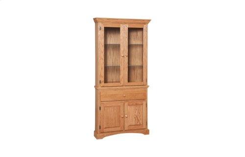 Grand Corner Cabinet Full Hutch