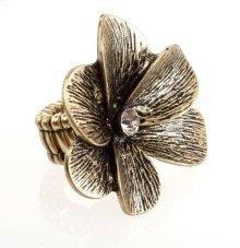 BTQ Burnished Gold Flower Ring