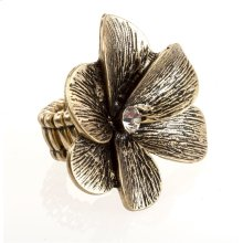 BTQ Burnished Gold Flower Ring