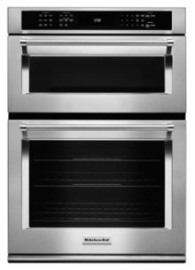 """30"""" Combination Wall Oven with Even-Heat True Convection (Lower Oven) - Stainless Steel***FLOOR MODEL CLOSEOUT PRICE***"""