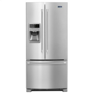Maytag 33-Inch Wide French Door Refrigerator With Temperature Controlled Beverage Chiller - 22 Cu. Ft.