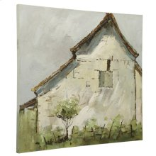 Vintage Farmhouse  Original Hand Painted Canvas  Traditoinal  Wood Stretcher