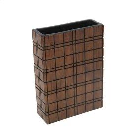 """Dark Brown Grid Vase 10"""""""