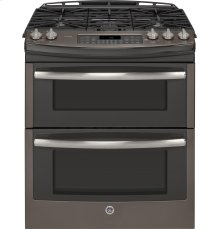 GE Profile Suite with Gas double oven Slide-in Range