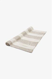 Tasha Bath Mat Cream with Linen Stripes STYLE: THMA01