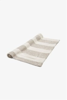 Tasha Bath Mat Cream with Linen Stripes STYLE: THMA01