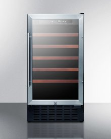 "18"" Wide ADA Compliant Wine Cellar for Built-in or Freestanding Use, With Digital Controls, Lock, and LED Lighting"