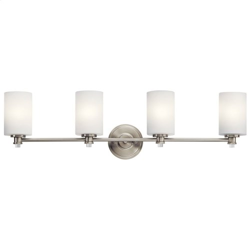 Joelson 4 Light Vanity Light with LED Bulbs Brushed Nickel