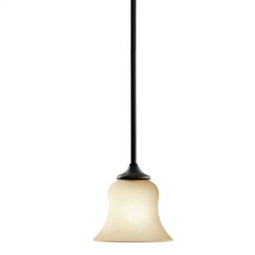 Wedgeport 1 Light Mini Pendant with LED Bulbs Olde Bronze®