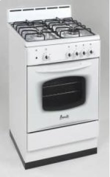 "Model DG200W - 20"" Deluxe Gas Range White"