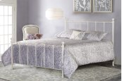 Molly Queen Duo Panel White - Must Order 2 Panels for Complete Bed Set
