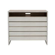 Sutton Place 3 Drawer Media Chest in Oak Grey