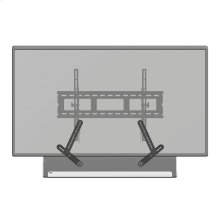 Black- Seamlessly integrate Playbar with your wall-mounted TV.