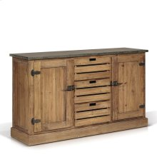 Cumberland Zinc Top Buffet/Sideboard with 2 Doors, 3 Drawers