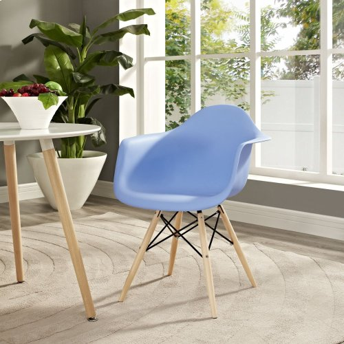 Pyramid Dining Armchair in Blue