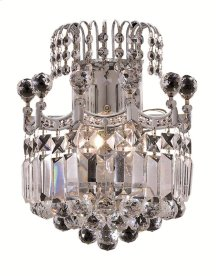 8949 Corona Collection Wall Sconce Chrome Finish