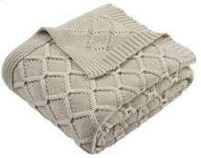 PETAL KNIT THROW - Palewisper