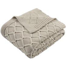 Petal Knit Throw - Palewisper