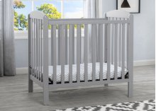 Mini Crib with Mattress - Grey (026)