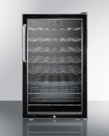 "ADA Compliant 20"" Wide Wine Cellar for Built-in Use, With Stainless Steel Cabinet, Lock and Digital Thermostat"
