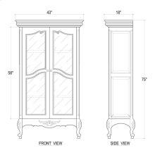 Chateau Bookcase w/ Glass