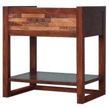 Callisto Night Stand/Side Table, Java