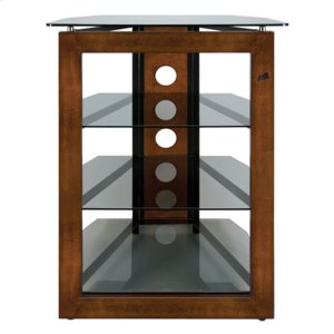 No Tools Assembly Solid Wood Front Frame A/V Tower -