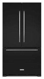 25 Cu. Ft. 36-Width Standard Depth French Door Refrigerator with Interior Dispense - Black Product Image