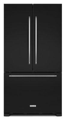 25 Cu. Ft. 36-Width Standard Depth French Door Refrigerator with Interior Dispense - Black