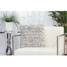 "Shag Dl058 Silver 16"" X 16"" Throw Pillows"