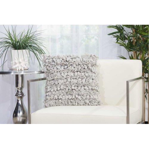 """Shag Dl058 Silver 16"""" X 16"""" Throw Pillows"""