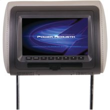 """7"""" LCD Universal Headrest Monitor with DVD, IR & FM Transmitters & 3 Interchangeable Skins"""