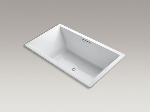 "Ice Grey 72"" X 42"" Drop-in Vibracoustic Bath With Center Drain"