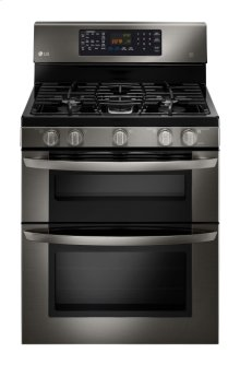 LG Black Stainless Steel Series 6.1 CU. FT. CAPACITY GAS DOUBLE OVEN RANGE WITH EASYCLEAN®