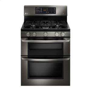 LG AppliancesLG Black Stainless Steel Series 6.1 CU. FT. CAPACITY GAS DOUBLE OVEN RANGE WITH EASYCLEAN®