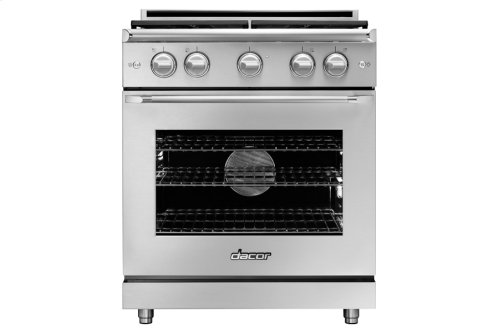"30"" Heritage Gas Epicure Range, Silver Stainless Steel, Liquid Propane/High Altitude"