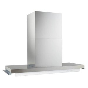 BestRIPORRE Built-in 34-Inch Brushed Stainless Steel Chimney Hood with 500 CFM Internal Blower