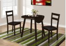 "DINING SET - 3PCS SET / CAPPUCCINO 36""DIA DROP LEAF TABLE Product Image"