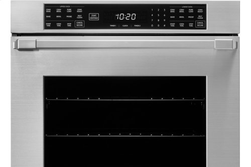 """27"""" Heritage Double Wall Oven, Silver Stainless Steel, Pro Style handle"""