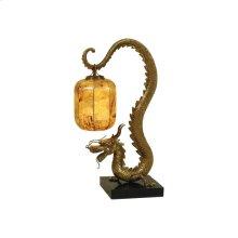 SHERWOOD CAST BRASS DRAGON TABLE LAMP