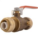 Brass Push Ball Valve with Drain / Vent Product Image