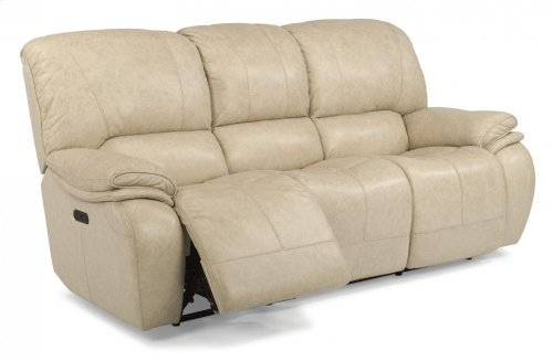 Tobin Leather Power Reclining Sofa with Power Headrests